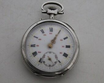 Swiss silver pocket watch