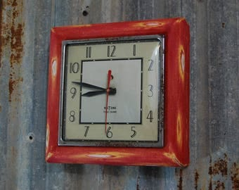 Vintage Nutone clock, Vintage kitchen clock, rustic clock, rustic kitchen clock