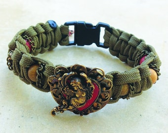 Angel Heart Steampunk Paracord Bracelet