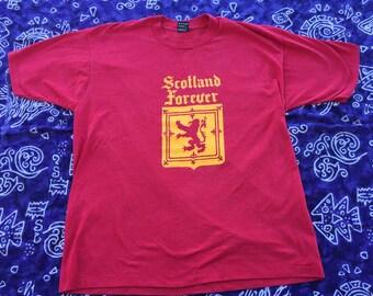 1990's, Fruit of the Loom, Scotland Forever Shirt