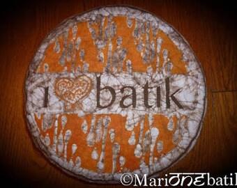 Batik meditation cushion I LOVE BATIK