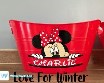 Easter bucket, Easter Basket, Personalized Easter bin