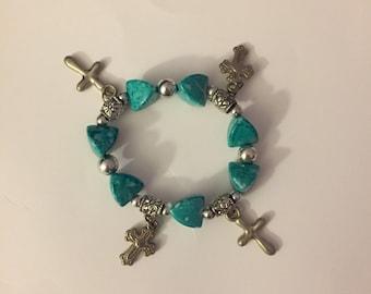 Christian crosses bracelet
