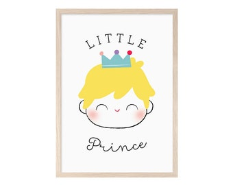 Little Prince. Blade, printable, child, child, Prince, Prince, rubio, poster, baby, print, picture