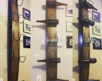 1800's Warped Oak Wine Rack