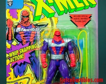 X-men Senyaka Action Figure Whip Snapping Action Toy Biz 1994
