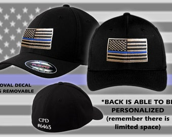 Thin Blue Line // Fitted // Flexfit // Hat // Police // Support // Flag