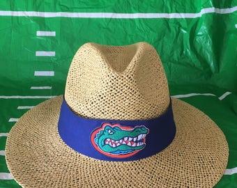Florida gators straw hat