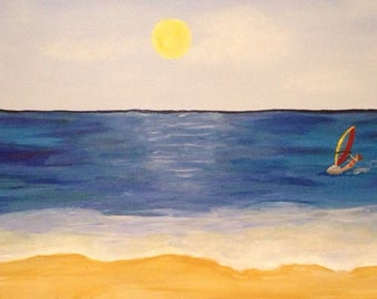 Beach Canvas Painting 100cm x 50cm