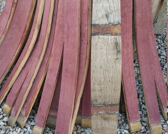 Set of 10 Wine or Whiskey Barrel Staves