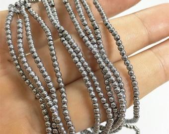 2mm Silver Hematite Beads,Round Beads,Hematite Jewelry