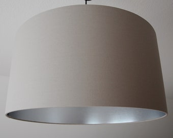 "Lampshade ""Taupe-Silver"""