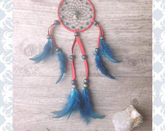 red and blue dreamcatcher