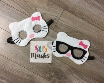 Hello Kitty Inspired Masks, Kids Masks, Kids Costumes, Kitty Mask, Kitten Mask, Halloween Mask, Halloween costumes