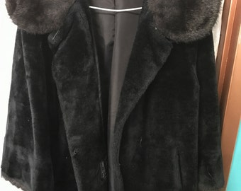 Vintage Faux Fur Women's Coat