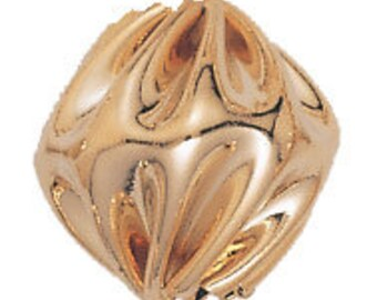 11x10mm Gold Filled Bicone Swirl Beads