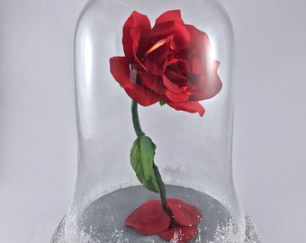 Beauty and the Beast Rose, Christmas Flower, Snow Covered Rose, Christmas Rose, Holiday Flower, Snow Covered Rose, Enchanted Rose, Red Rose