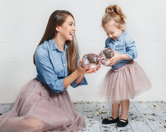 Tulle skirt; Mommy and Me set; Family look; Mommy and baby tutu skirts;  Tulle skirts for mom and daughter; Tutu