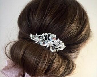 SALE Silver hair comb, bridesmaid hair comb, hair comb wedding, bridesmaid hair accessories, wedding hair accessories, wedding hair piece, b