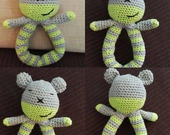 Crocheted Teddy rattle