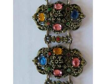 Vintage Jewellery, Vintage Bracelet,  Colourful Vintage Bracelet, Statement Bracelet, Bohemian Bracelet, Boho, Costume Jewellery, Vintage