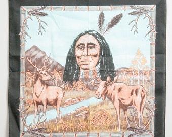 Vintage Native American Bandana 1