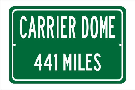 Custom College Highway Distance Sign to Carrier Dome | Home of the Syracuse University Orange | Orange Basketball |