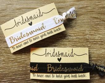 Bridesmaid hair tie/wrist band