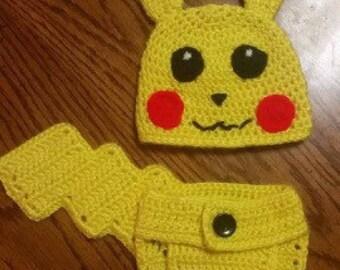 Pikachu Hat & Diaper Cover