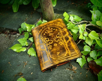 leather kindle case, the gate of moria, lord of the rings, kindle paperwhite 3 cover