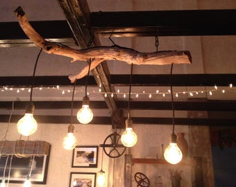 Lisa's driftwood branch chandelier