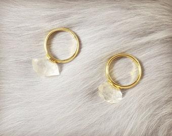 Herkimer diamond ring, Adjustable crystal ring, Crystal ring, Herkimer diamond jewellery, raw herkimer diamond