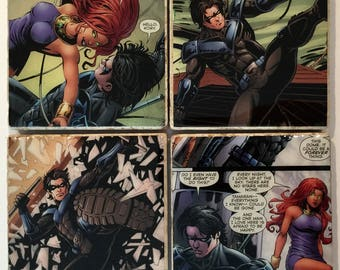 Nightwing Coasters/ DC Comics/ superhero coasters