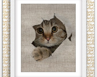 Cat Print Decor Cat Poster Cat Printable Cat Wall Art Cat Wall Print Animal Printable Art Big Cat Poster Cat Digital Print Animal Poster Art