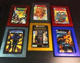 Comic book frames,Metallic Colors. For use with Toploaders