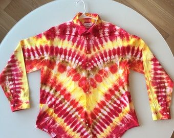 Tie Dye Handcrafted Button Up Shirt