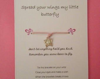 Spread your wings wish bracelet