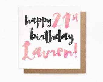 Personalised Birthday Card - Personalised Card