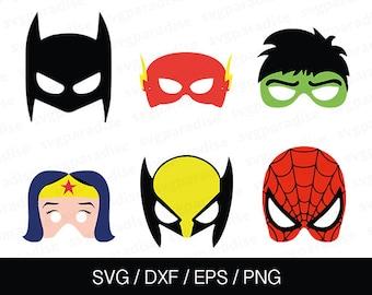 Super Heros Svg, Batman Svg, Spiderman Svg, Wonder Woman Svg, Flash Svg, Hulk Svg, Wolverine Svg, Eps, Dxf, Png use with Cricut & Silhouette