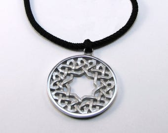 Pendant in Silver 925 lattice mudejar, collection CHARTRES.