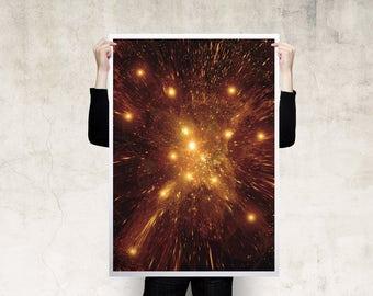 Cosmic Explosion Print Poster