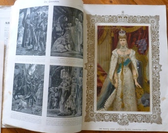 Antique Book King Edward VII Coronation 1902, English Royals, Ephemera, Collectable History Book, British Royal Family, British Monarchy