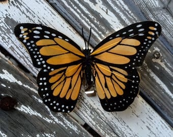 Gold Monarch butterfly clip
