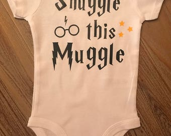 Harry Potter Bodysuit, Snuggle this Muggle, Harry Potter Baby