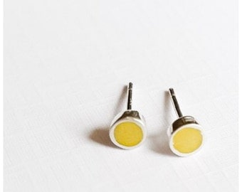 Colour Dot Ear Studs | Tiny Studs | Minimalist Earrings