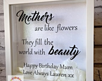 Gift for Mum / Mothers Day Frame / Mum's Birthday gift