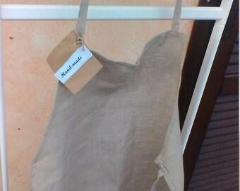 Little natural color linen apron
