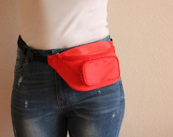 Red Fanny Pack Waist Bag Hip Bag Belt Wallet Pouch Bag Waist Wallet Bum Bag  Travel Fanny Pack