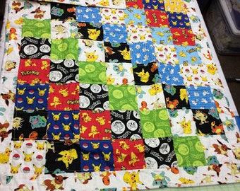 Pokeman baby/small kid's quilt