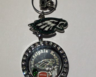 11 pc Philadelphia Eagles Football Floating Charms, Plate, Locket, Necklace, Dangles, Origami Stone~ * Save 5%: coupon code SAVE5